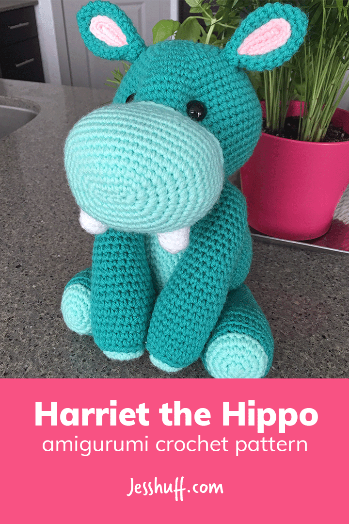 Harriet the Hippo Amigurumi Pattern | Figuren häkeln, Häkeln und Figuren
