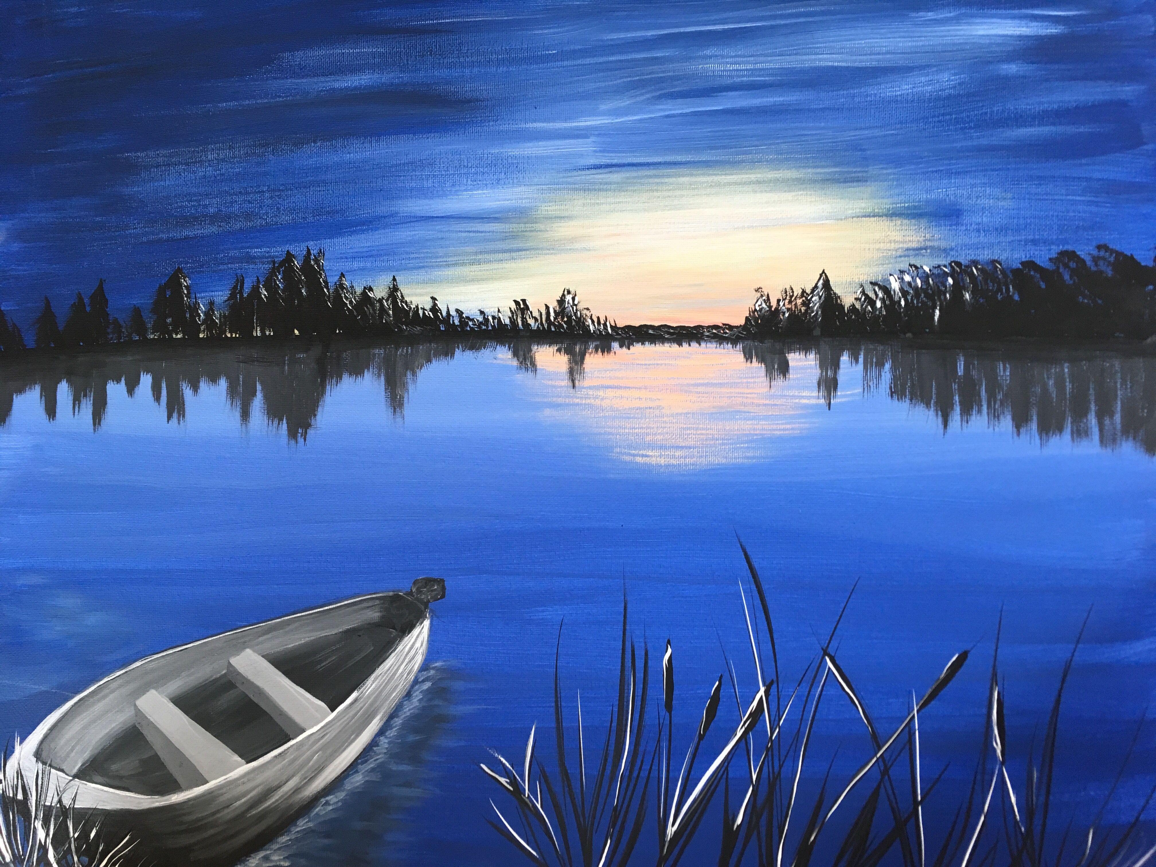 Five island lake at sunset Halifax Nova Scotia Island
