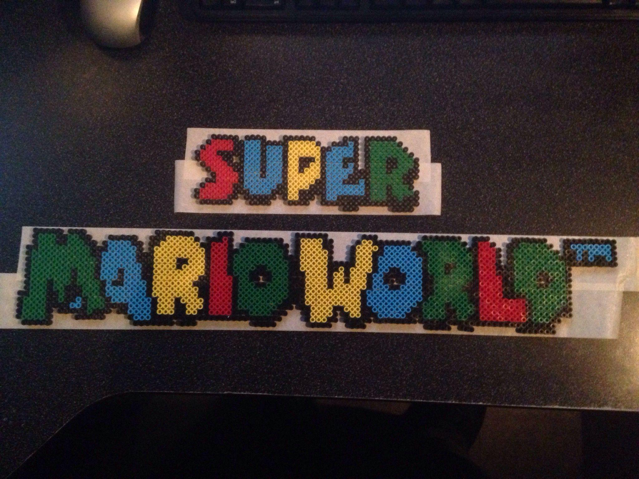 Super Mario World Logo Crafts Super Mario World Pixel Art