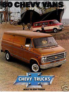 1975 Ford Econoline Van Vintage Car Truck Sales Brochure