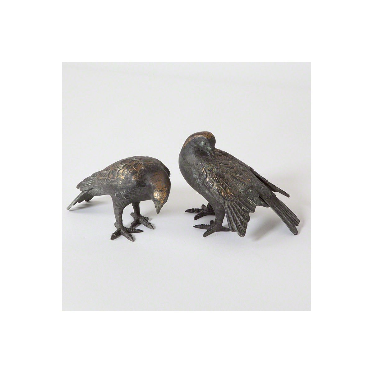 Global Views Dove - Aged with Gold Leaf Set of 2