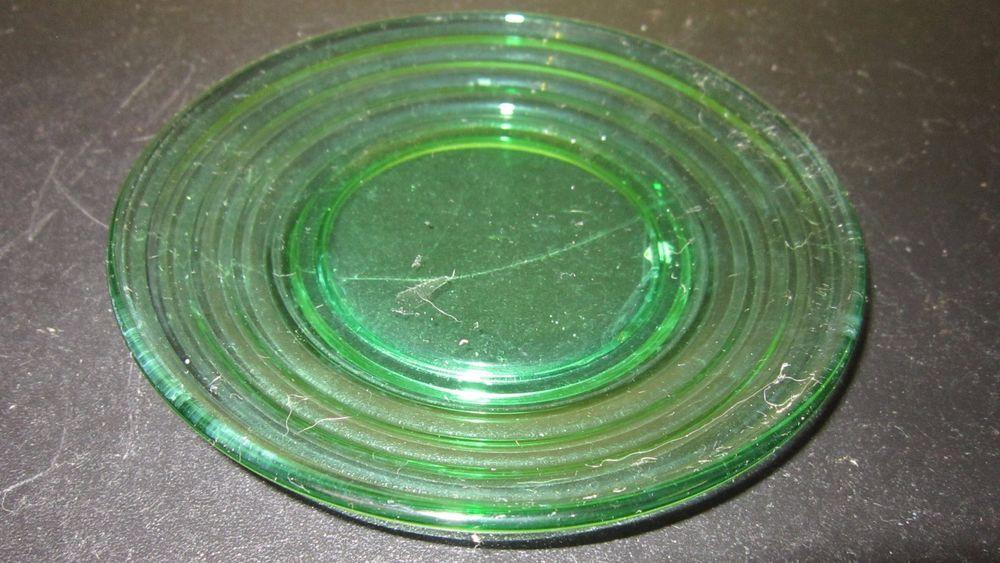 Vintage Dark Green Depression Glass Bread & Butter Plate Band Wave Pattern  | Pottery & Glass, Glass, Glassware | eBay!