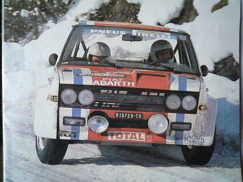 Fiat 131 Abarth Fiat Cars Rally Car Fiat Abarth