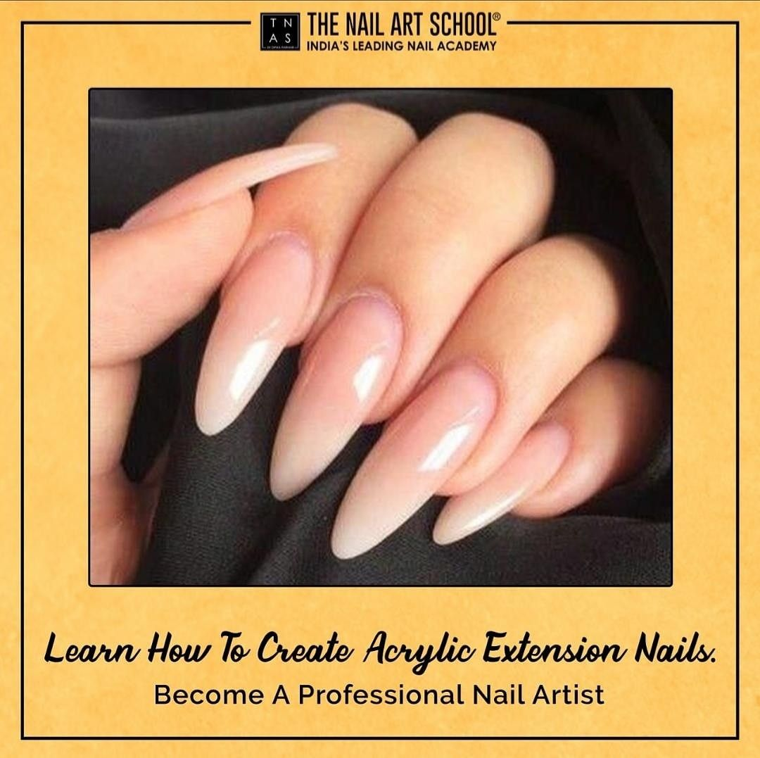 Learn how to create Permanent Acrylic Extension Nails which is the process to begin with offering this service to your clients, being one of the most popular nail-enhancement services currently requested in both salon and from nail professionals. 💅🏻 Enrol now!  Academy at Mumbai   Bengaluru   Kolkata  #AcrylicExtensionNails #NailArtCourses #NailArt #Nails #NailArtDesign #NailTechnicians #nailtrends #LearnNailArt #NailCourse #NailsOfInstagram #NailPro #NailTechnician #NailExtensions #Learn
