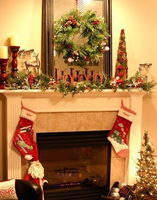 fireplace mantel christmas decorations - 33 Christmas Mantel Decorations Ideas To Try This Year Pinterest