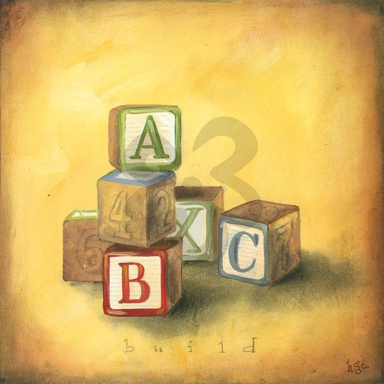 Boy\'s Toys - Blocks - Alphabet & Numbers Canvas Wall Art | Oopsy ...