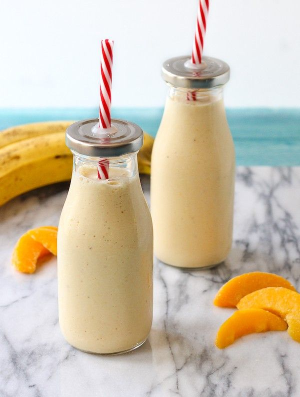 Peach Banana Honey And Cottage Cheese Smoothie Recipe