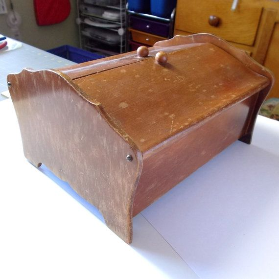 Sewing Box . Sewing Chest . Vintage Wood Sewing Box . Sewing Basket