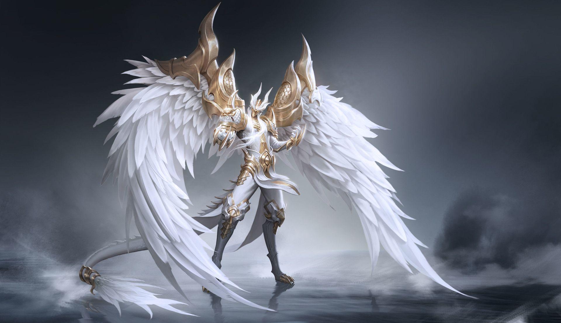 что картинки рыцаря с крыльями ангела больше