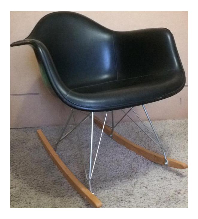 Herman Miller Eames Rocker Black with Black Upholstery