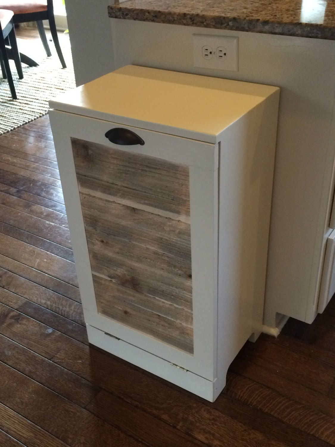 White tilt out clothes storage basket bin bathroom drawer ebay - Find This Pin And More On Trash Recycling Bins Rustic Tilt Out