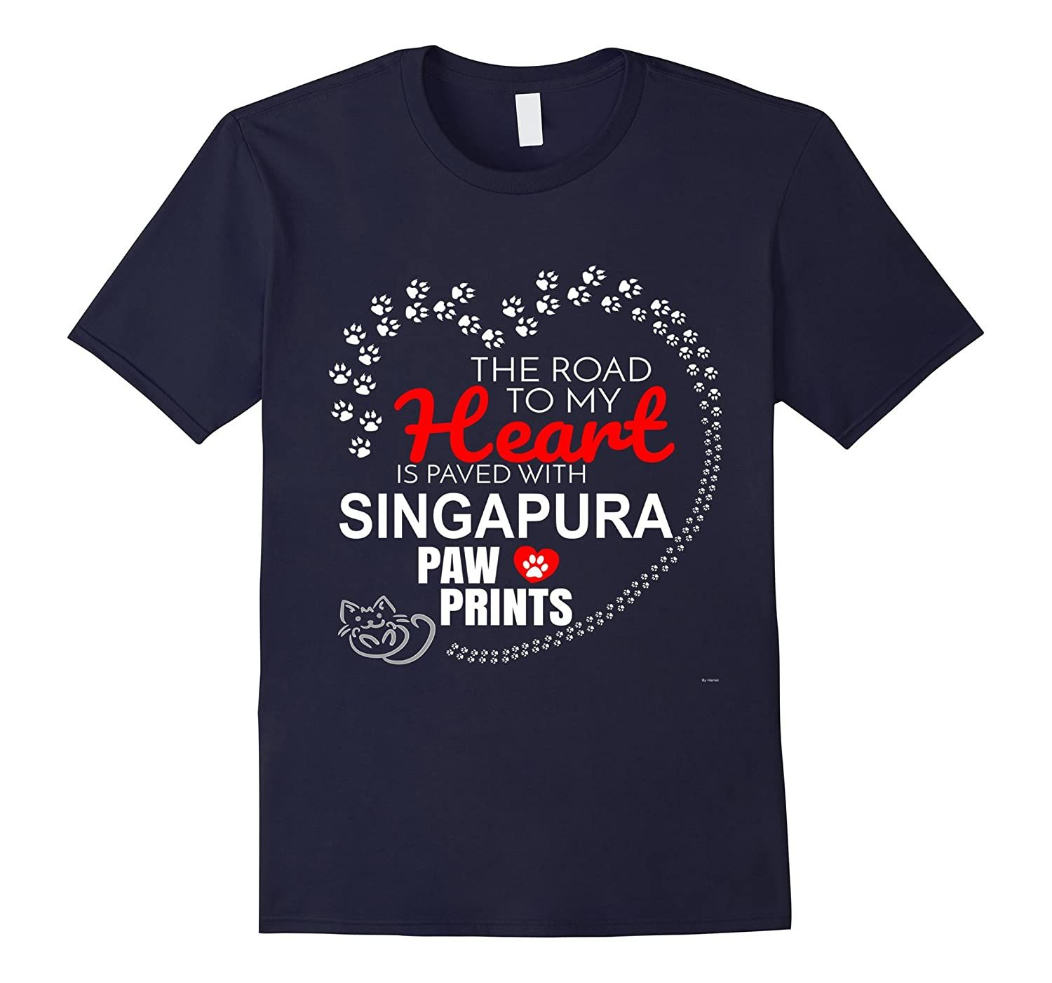 Singapura Tee Shirt - Gift For Cat Lovers-Awarplus