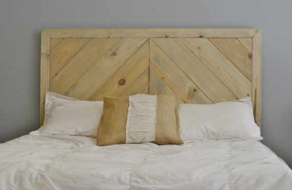 Sale Chevron Wood Headboard By Knotsandbiscuits On Etsy 295 00