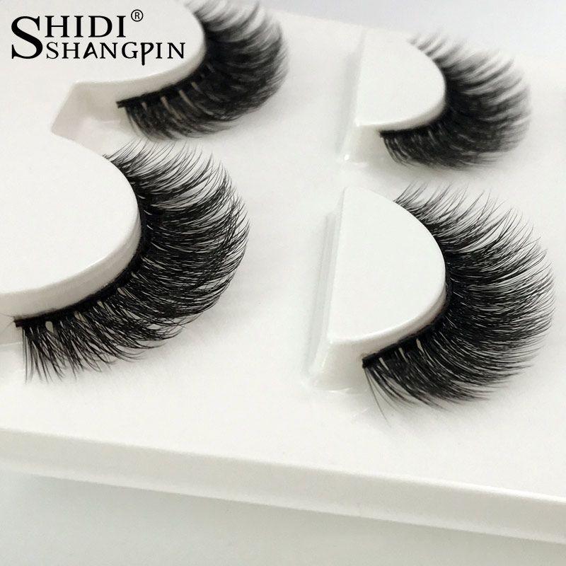3 Pairs Natural False Eyelashes Thick Makeup Real 3d Mink Lashes
