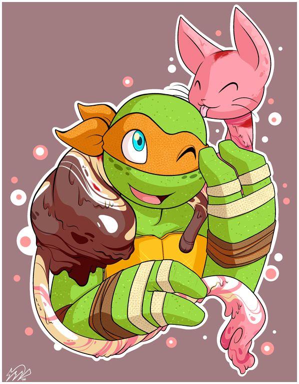 The Sweetest Pet By Akane The Fox On Deviantart Teenage Mutant