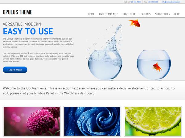 WordPress › WP Opulus « Free WordPress Themes   Web Design   Pinterest