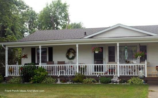 Porch Idea House With Porch Ranch Style Homes House Front Porch