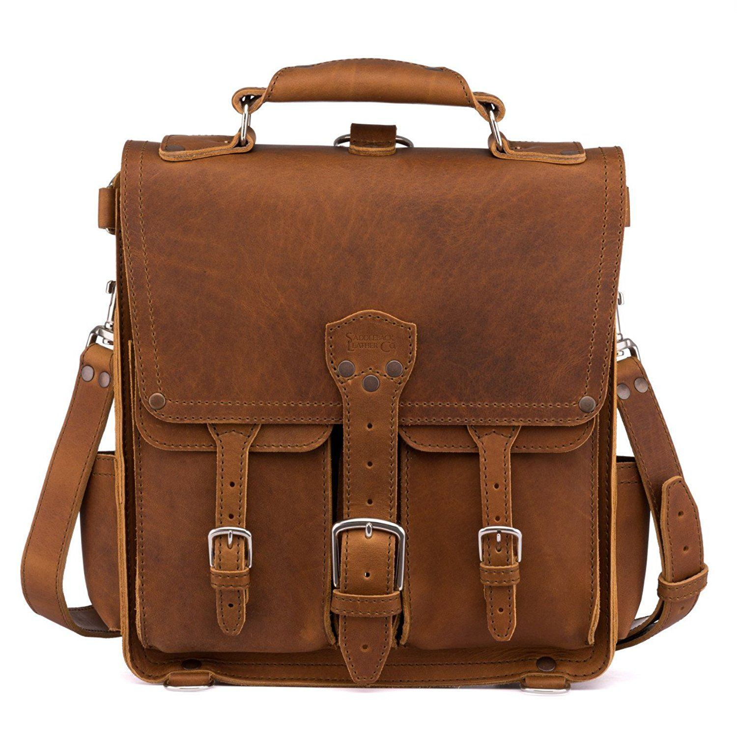 2a798bd4b5 Saddleback Leather Front Pocket Messenger Bag – All Leather Vertical  Messenger     Click on the image for additional details. (This is an Amazon  Affiliate ...