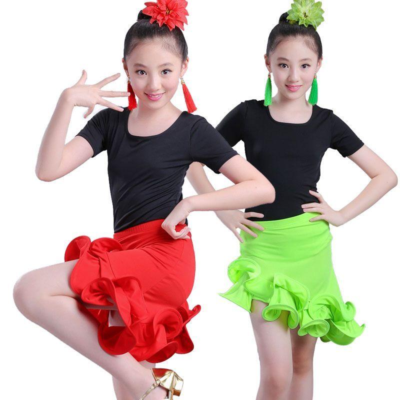 7f7fafa9e6646 Girl Latin Dance Dress For Girls Ballroom Costume Kids Dancing Dress ...