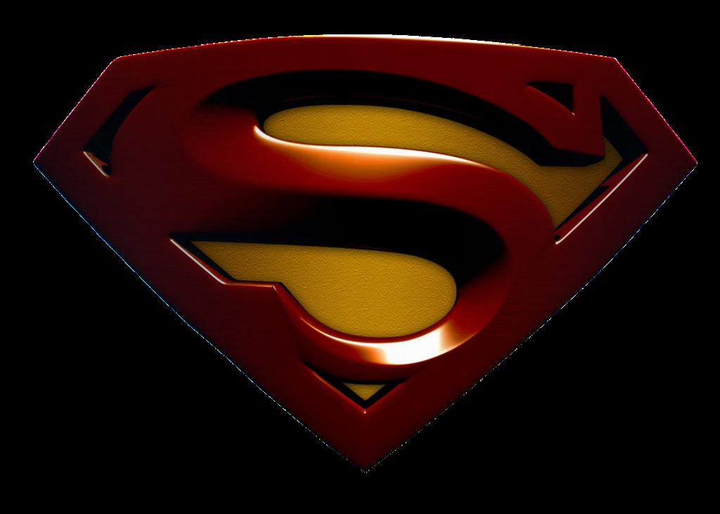 large 3D super logo Superman Returns Logo's