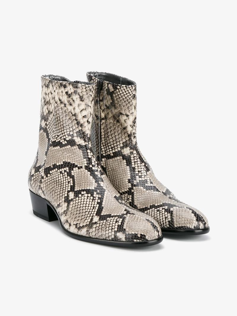 3e80ca3a05c1a MAISON MARGIELA REPLICA PYTHON SKIN PRINT BOOTS. #maisonmargiela #shoes # boots