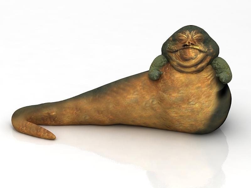 Star Wars Jabba Hutt 3d Model Turbosquid 1616227 Star Wars 3d Model War