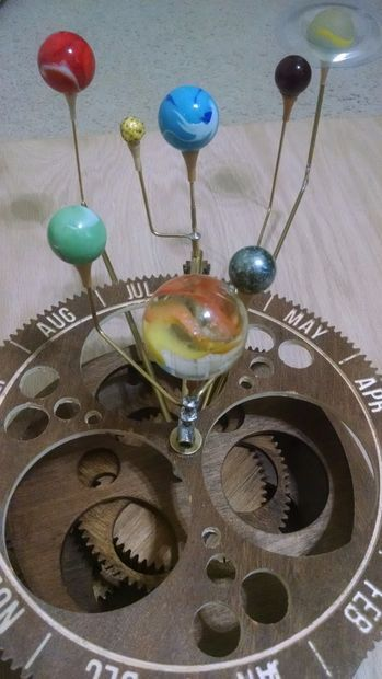 Orrery- a Mechanical Solar System Model From Plywood ...
