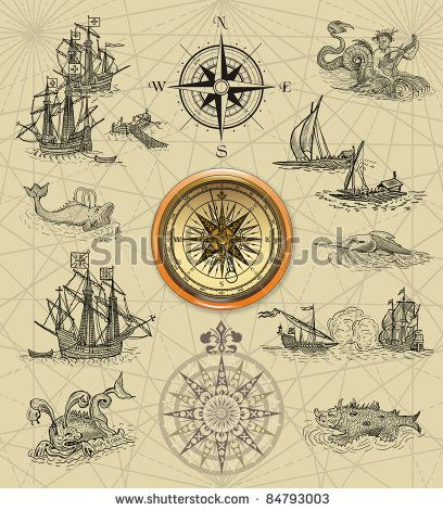 old map compass designs - Google Search | old maps ...