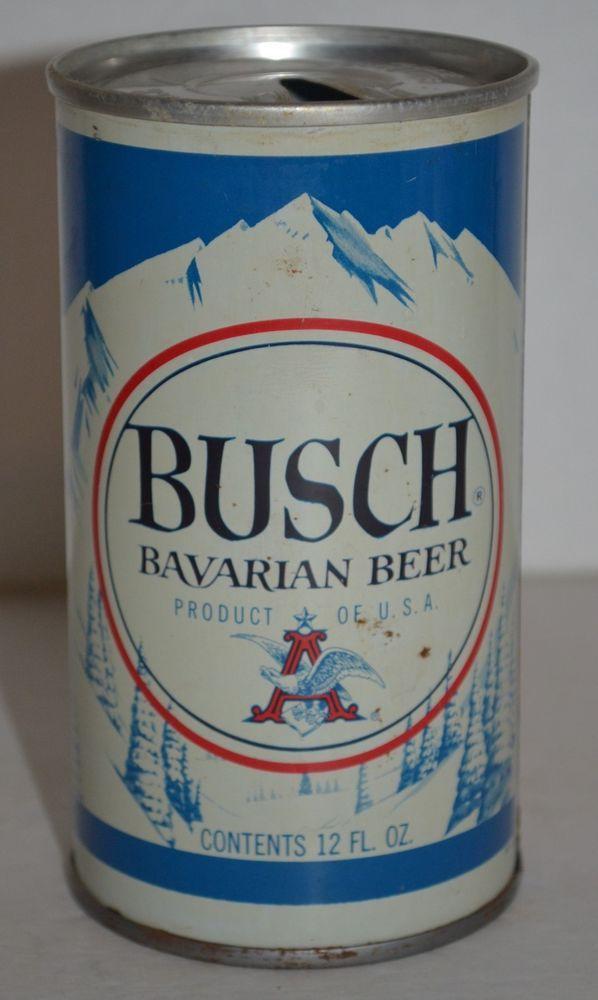 Vintage Steel Busch Bavarian Beer Can Pull Tab 83 A Product Of Usa 12 Fl Oz Buschbavarianbeer Cerveza Latas Anuncios Publicitarios