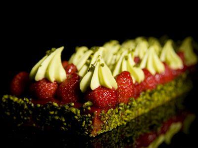 Tarte fraises et pistaches by Christophe Michalak