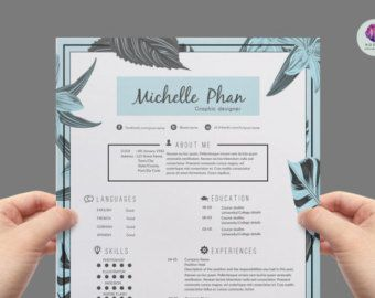 Resume Template Cv Template Cover Letter Template Reference Letter Template Modern Floral Resume Design Modern Resume Template Reference Letter Template