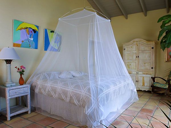 The Savanna is a spacious mosquito net bed canopy that suspends from just one string. $69