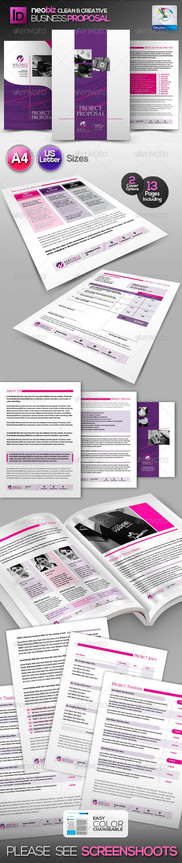 Generic Business Proposal Template Whole Corporate Identity Proposal+  Invoice+ Letter