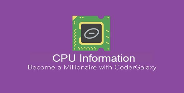Free Download CPU Information & CPU Z - Codecanyon 18943940
