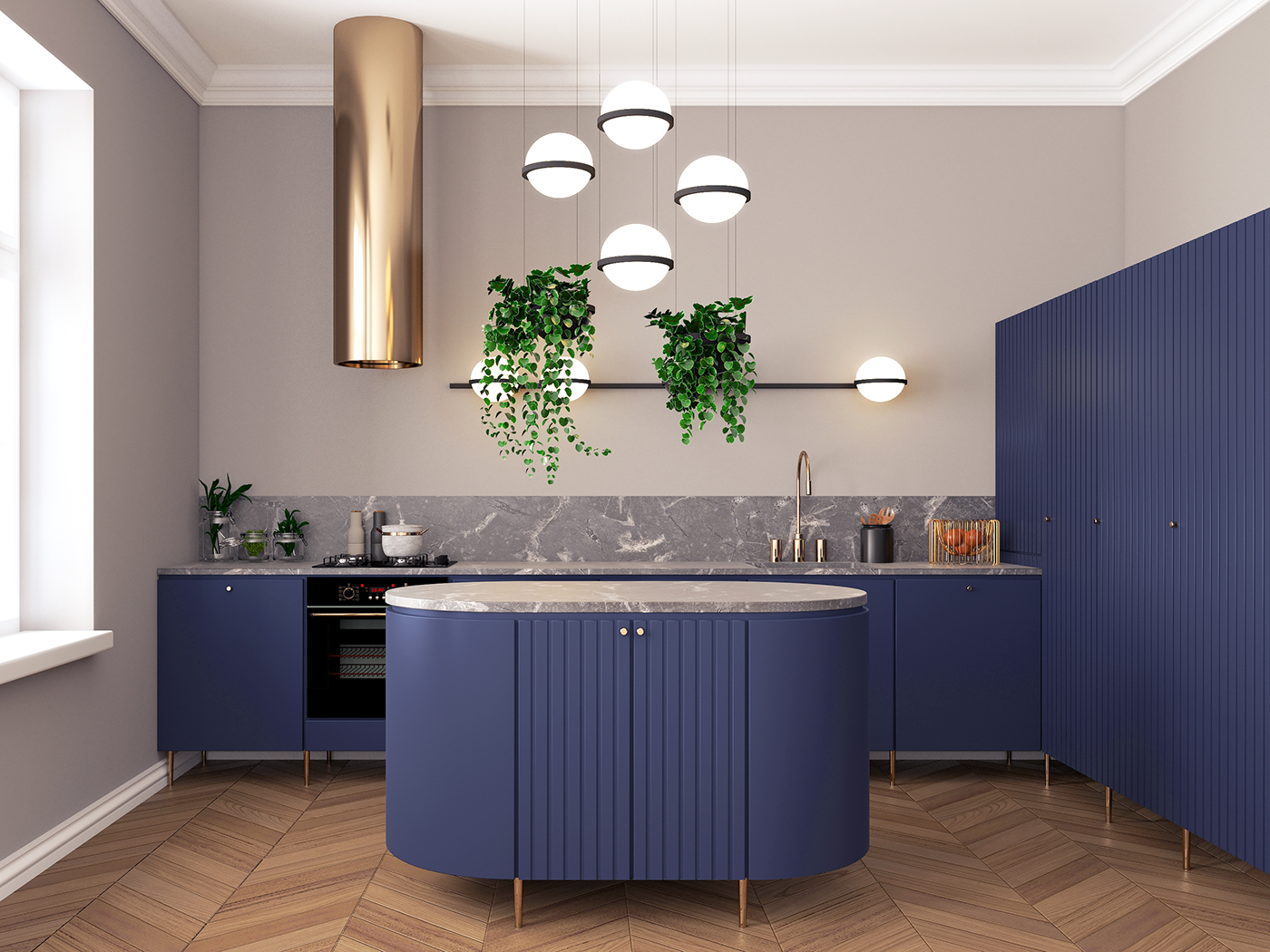 check out this behance project navy blue kitchen https www behance net gallery 71464449 on kitchen decor navy id=19516