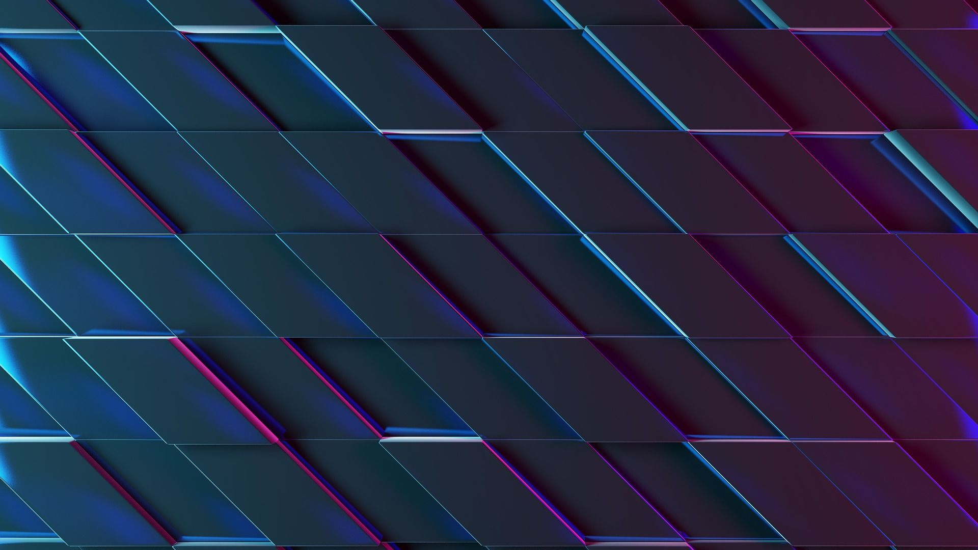 Abstract 3d Neon Shapes Background