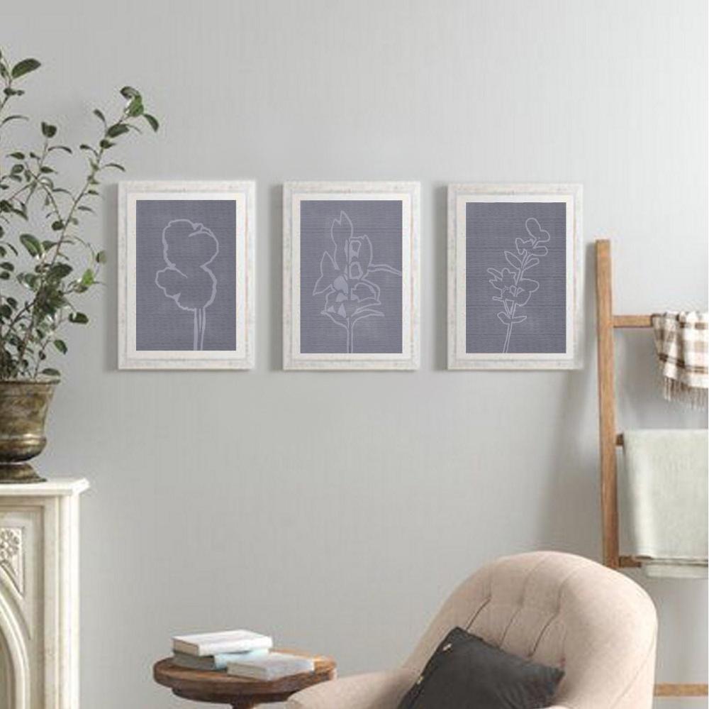 Slate Blue Nature Art Prints Set Of 3 Wall Art Digital Etsy Nature Art Prints Floral Prints Art Vintage Inspired Art