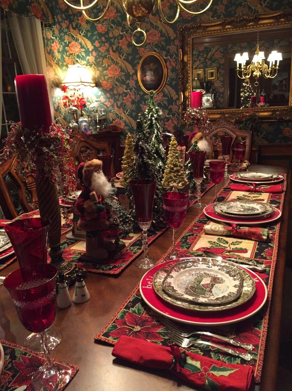 pingl par susan michele sur christmas pinterest no l table et table noel. Black Bedroom Furniture Sets. Home Design Ideas