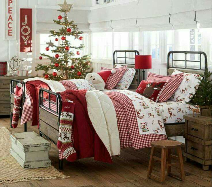 Welcome Home for Christmas Christmas bedding Pinterest