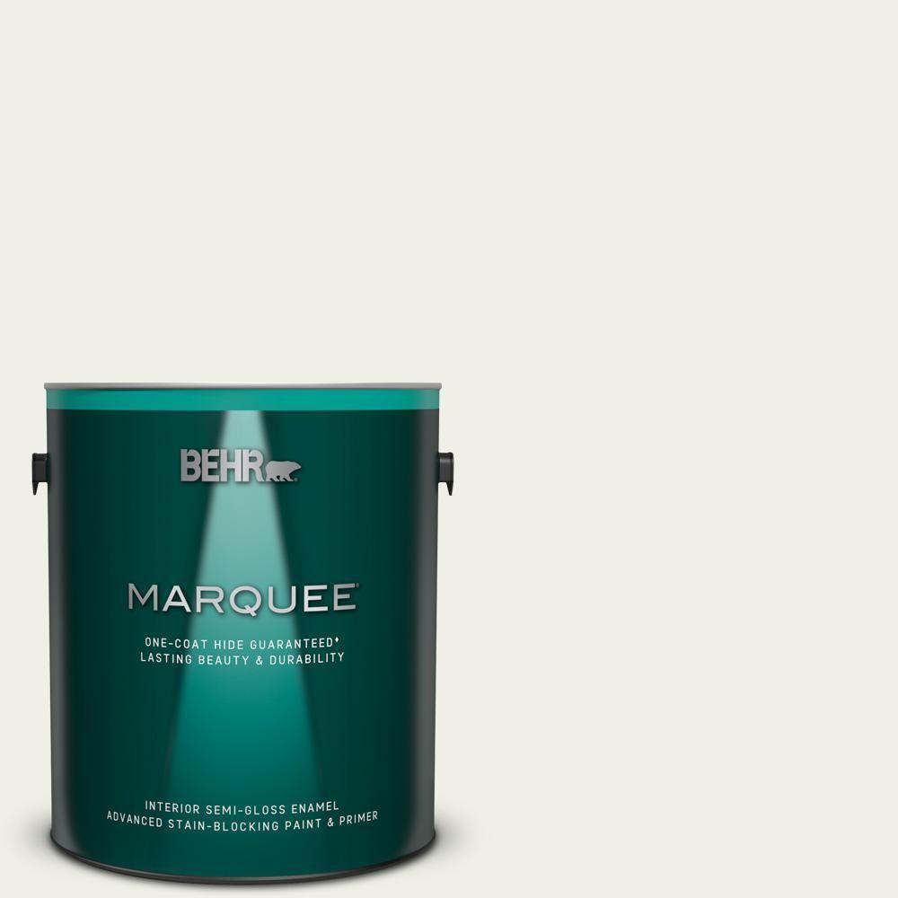 Behr Marquee 1 Gal Ecc 63 2 Aspen Snow Semi Gloss Enamel Interior Paint And Primer In One 345001 Behr Marquee Behr Marquee Paint Interior Paint