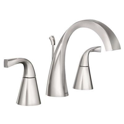 Moen Bathroom Sink Faucet Ws84661 Oxby 2 Handle Widespread Chrome Bath Sink Faucet Bathroom
