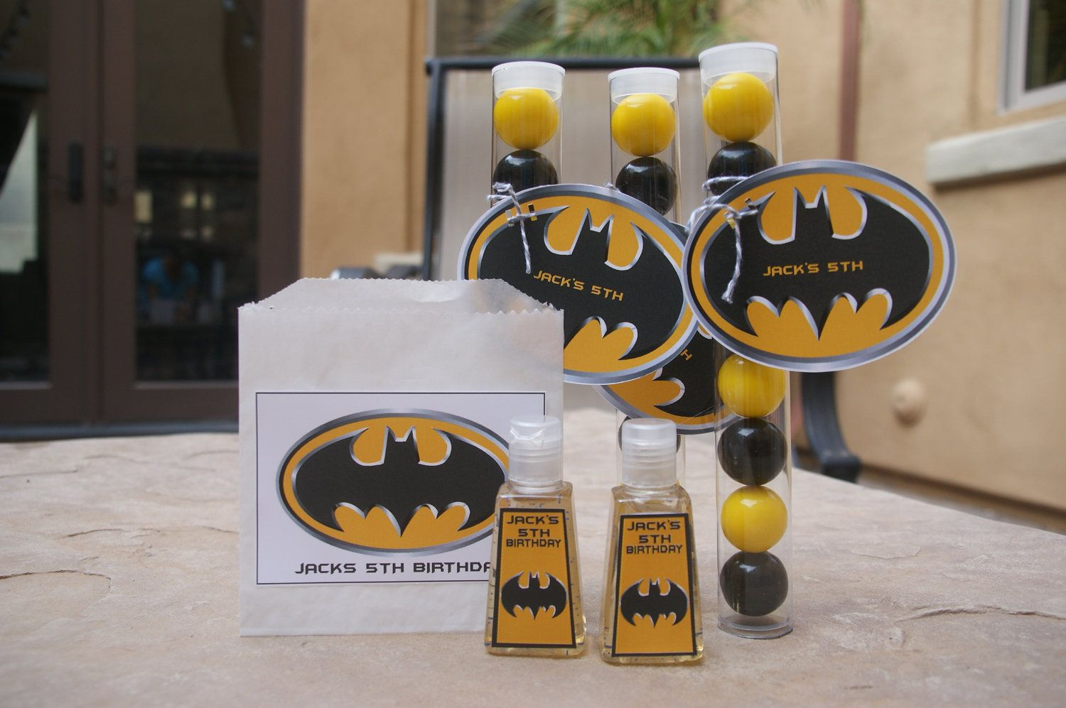 Batman Party Favor 5 Batman Hand Sanitizer 12 50 Via Etsy