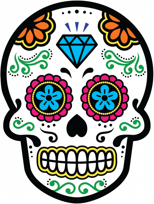 sticker calavera tete de mort mexicaine 22 mpa d co autocollants calavera. Black Bedroom Furniture Sets. Home Design Ideas