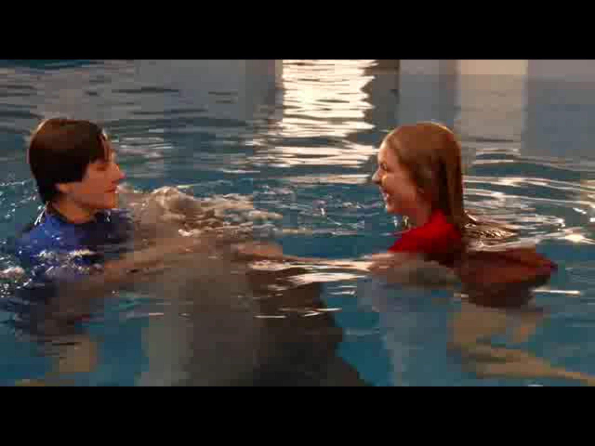 Hazel and Sawyer with Winter Dolphin Tale Cast
