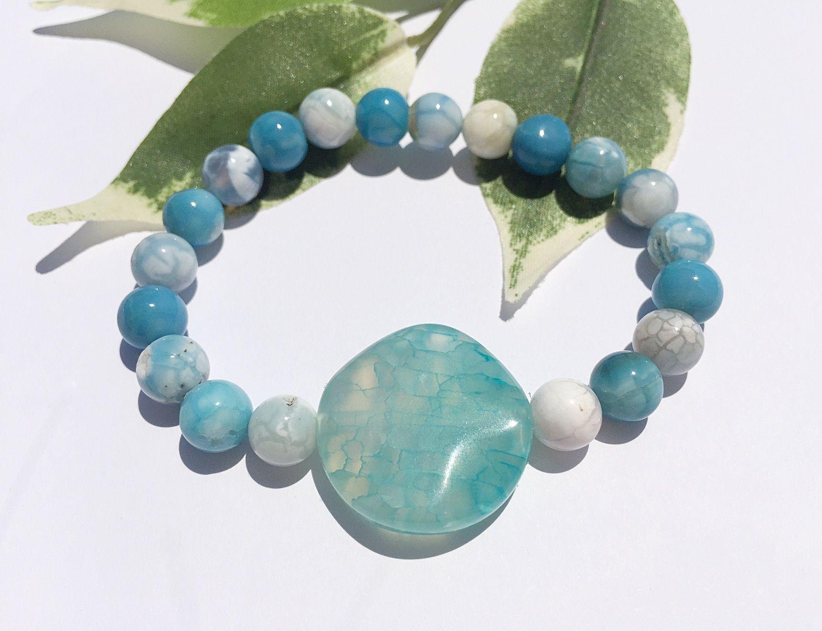 Gemstone Bracelet Turquoise and Agate