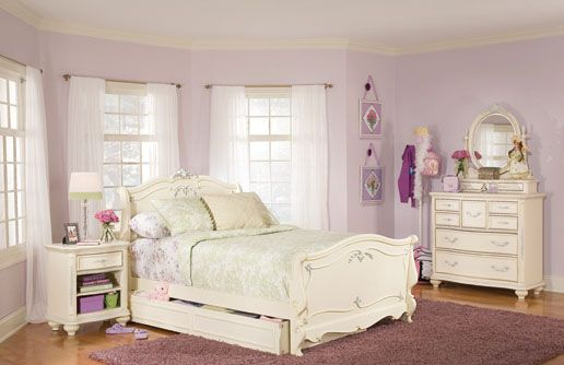 Lea Jessica McClintock Full Bedroom Set - Antique White ...