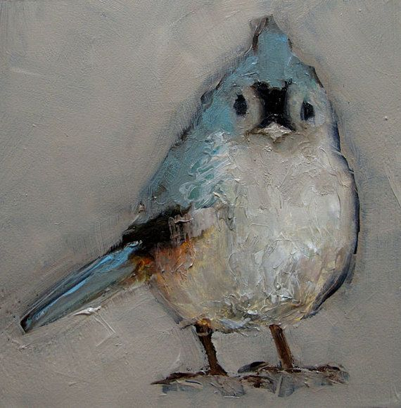 FOUR TITMOUSE BIRD  Prints Giclee print from my by artiparti, $19.50