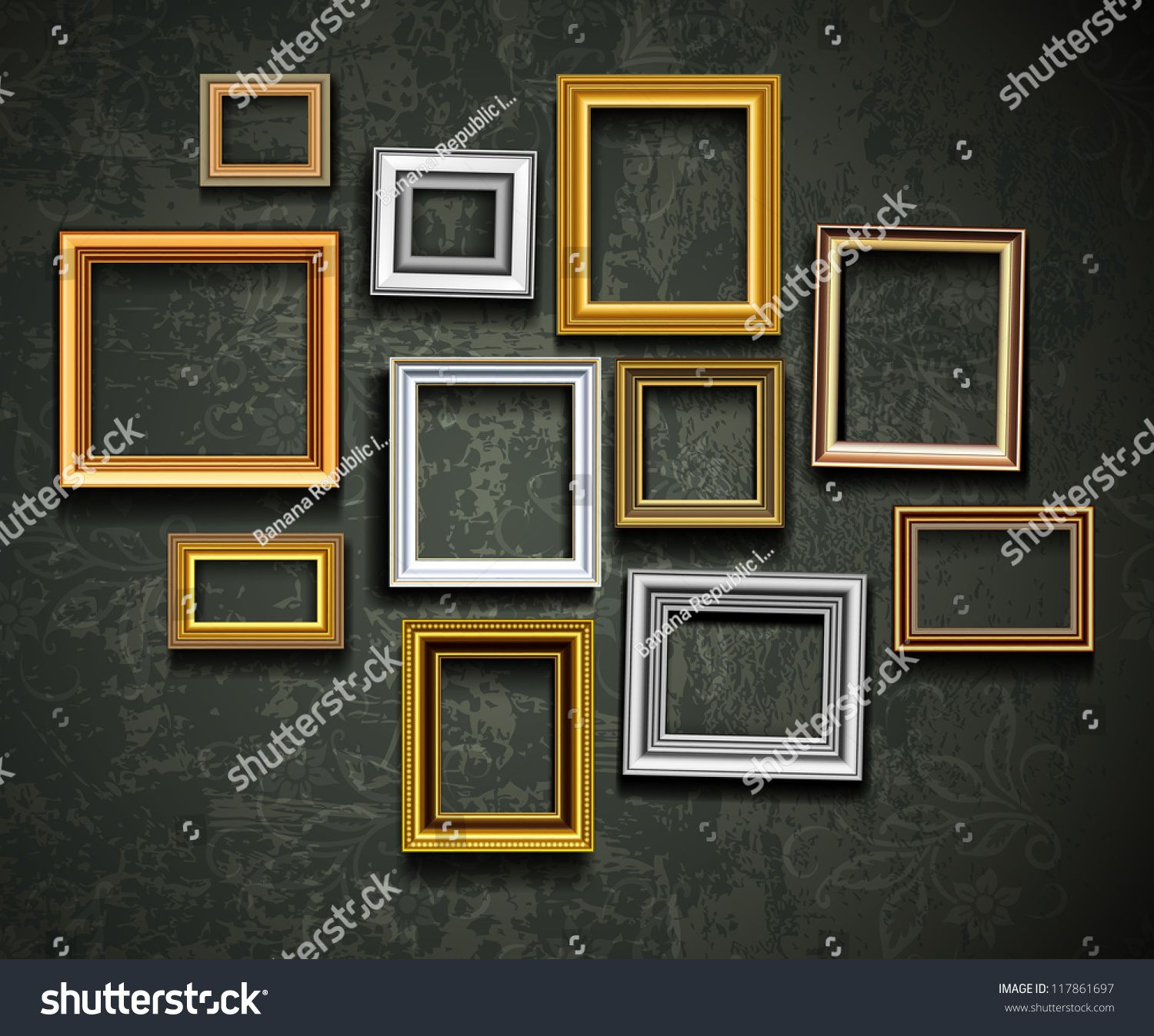 Frame Vector Photo Or Picture Art On Vintage Wall Ad Spon Photo Vector Frame Picture Picture Frame Art Art Gallery Wall Photo Art Gallery