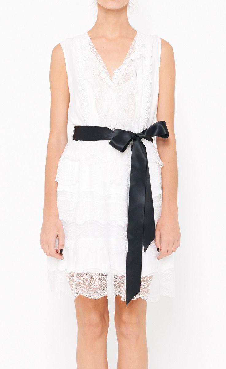 Oscar de la Renta White Dress | VAUNTE | Couture!!!!!!! | Pinterest ...