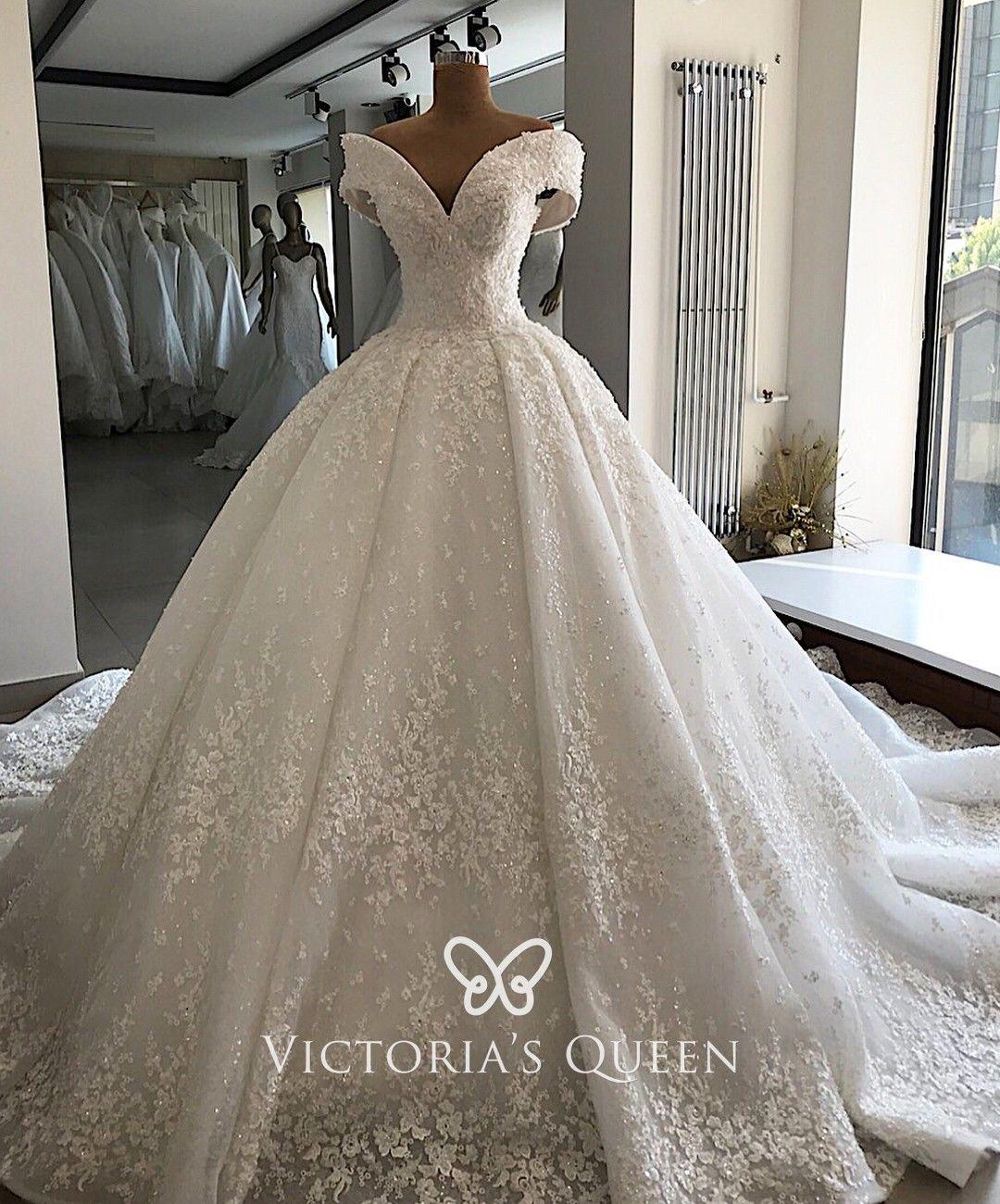 Luxury Beaded Off Shoulder Princess Wedding Ball Gown In 2021 Elegant Ball Gowns Wedding Dresses Applique Wedding Dress [ 1300 x 1080 Pixel ]